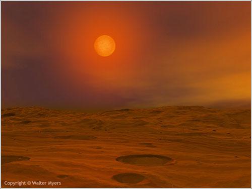 Teide 1 desde un hipotético planeta