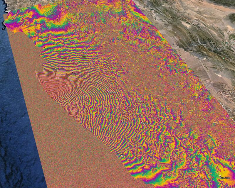 El terremoto de Chile visto por el Sentinel-1A