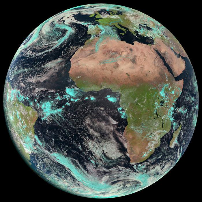 La Tierra vista por el MSG-3