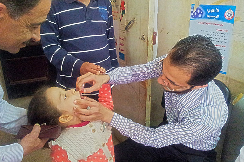 Vacunación contra la polio en Egipto
