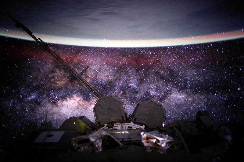 La Vía Láctea vista por Scott Kelly