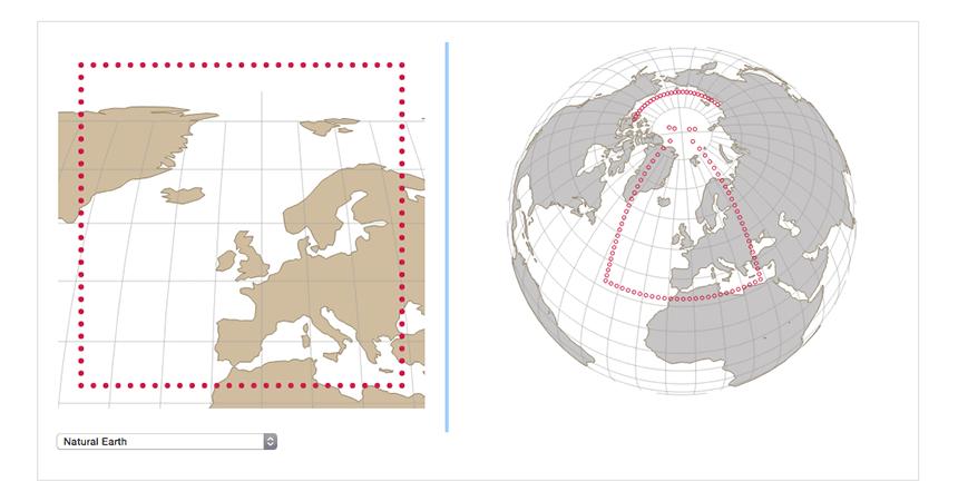 Visualizing map distortion