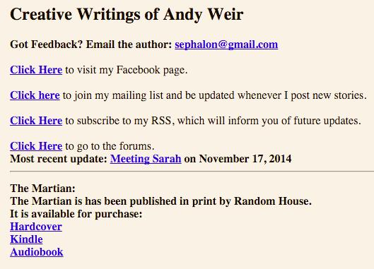 Weir Personal Blog