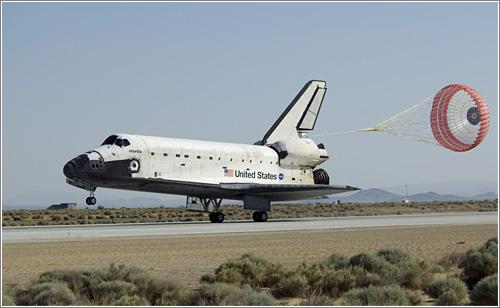 El Atlantis aterrizó finalmente en la base aérea Edwards de California / Foto: NASA