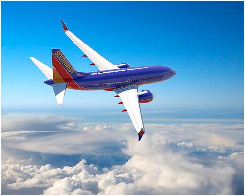 Impresión artística de un 737 MAX de Southwest Airlines