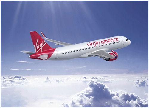 Imagen por ordenador del A320neo con librea de Virgin America -Airbus/FIXION/GWLNSD