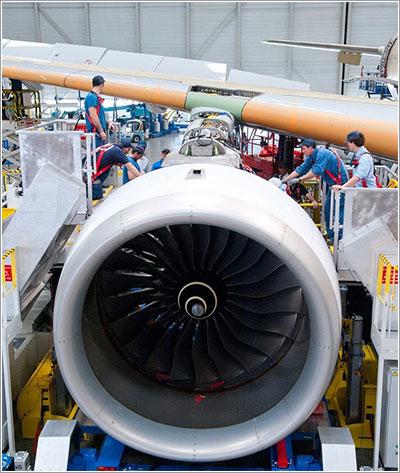 Motor en instalación