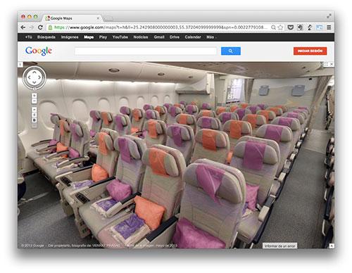 A380 en Google Maps