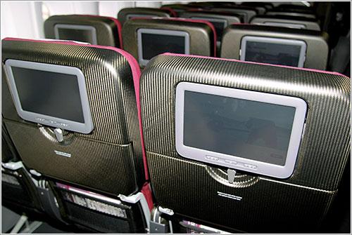 Pantallas en los asientos de turista de Qantas