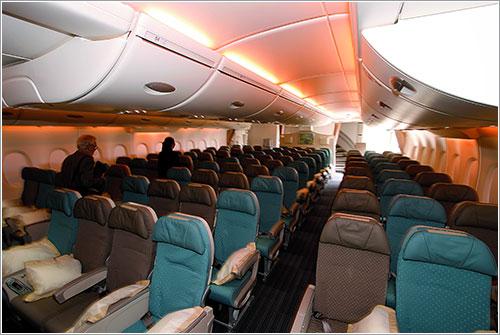 Clase turista en un A380 de Singapore
