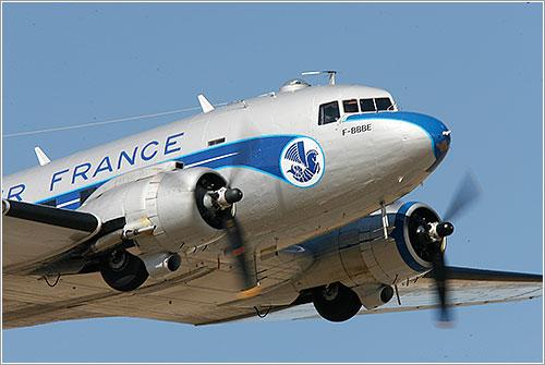 El DC-3 en vuelo