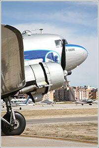 El DC-3 en tierra