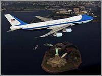 Air Force One sobre Nueva York