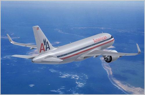 Un A320 neo con librea de American