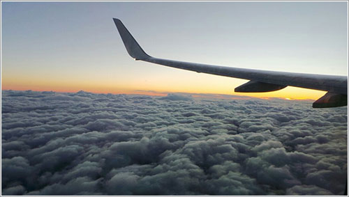 Atardecer desde el avión por Iago Varela