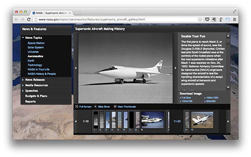 Los aviones supersónicos de la NASA
