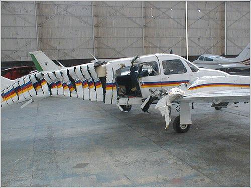 Avioneta rebanada