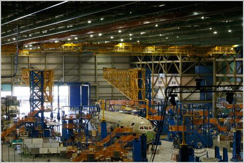 B787 en pleno proceso de fabricación