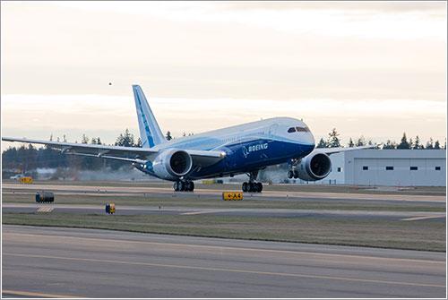 Primera rotación de un B-787 - Foto Boeing