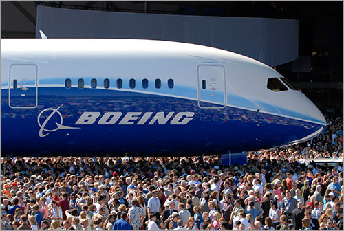 Roll-out del B787 © Boeing