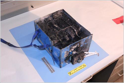La batería dañada - NTSB