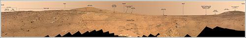 Panorama Bonestell por Spirit - Mars Exploration Rover Mission, Cornell, JPL, NASA