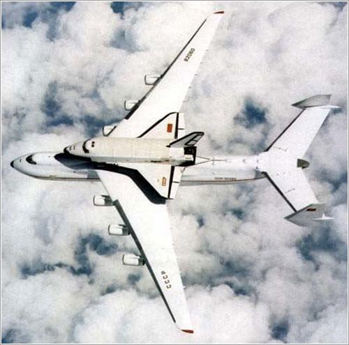 El Buran a lomos de un An-225