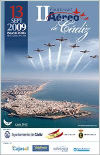 Cartel II Festival Aéreo Ciudad de Cádiz