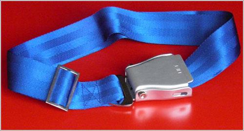 Cinturón azul de avión