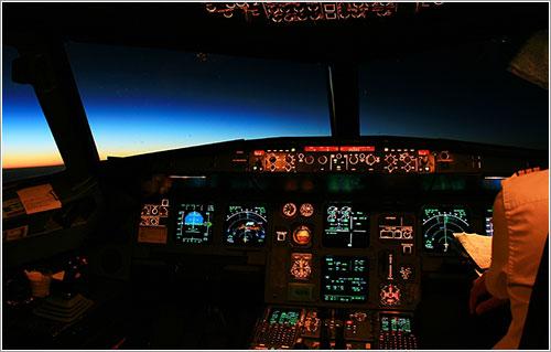 Cockpit de A320 por Félix Piquero