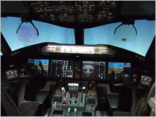 Cockpit de un B787