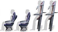 Concepto asientos verticales