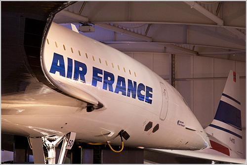Concordes en el museo de Le Bourget