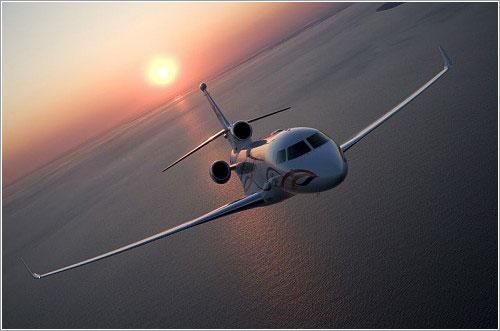 Dassault Falcon 7X en vuelo