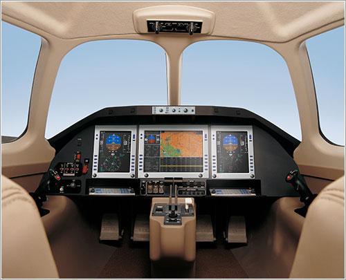 Cockpit del Eclipse 500