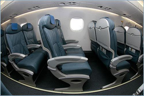 Interior de los Embraer E-195 de Air Europa