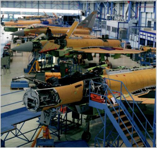 Eurofighter trancha 2 en la cadena de montaje