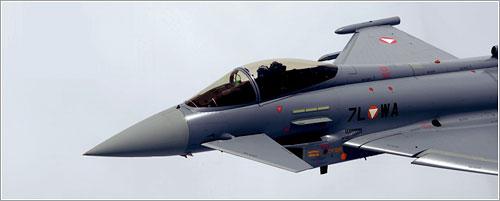 Eurofighter austríaco en vuelo