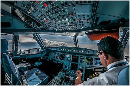 Evitando una tormenta a 37.000 pies de camino a India
