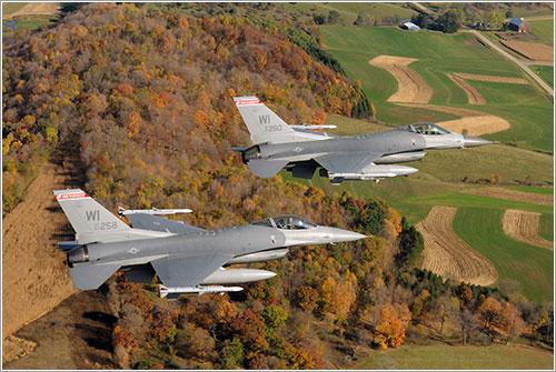 F16 del Ala de casa 115 - USAF