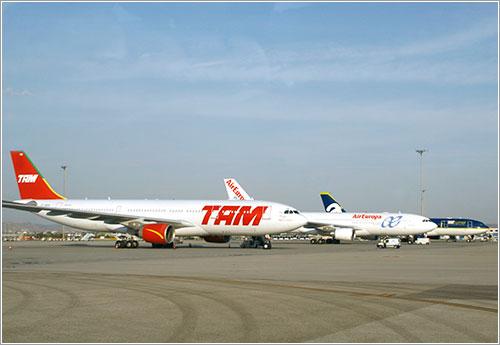 Aviones en plataforma