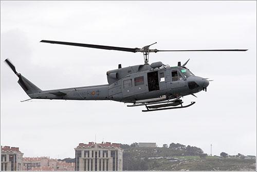 El helicóptero accidentado
