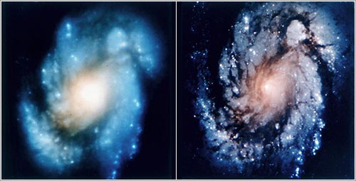 Comparación antes y después de la reparación / NASA