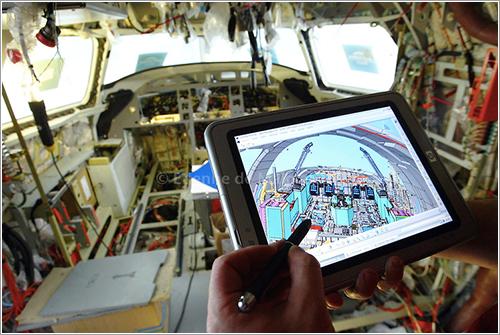 Interior del prototipo del Falcon 7X