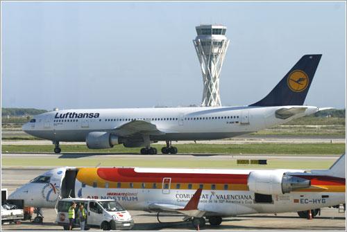 Lufthansa en Barcelona