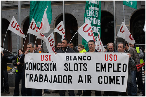 Manifestación empleados Air Comet