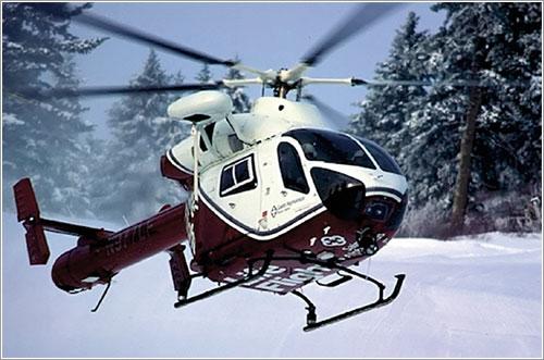 Helicóptero NOTAR en vuelo