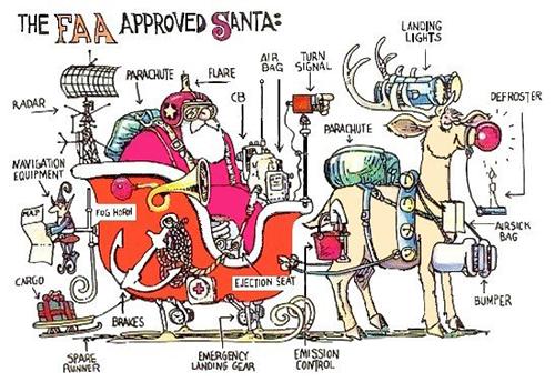 El trineo de Papá Noel tuneado por la FAA