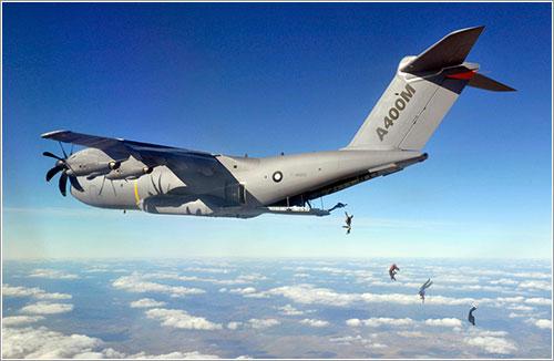 Paracaidistas y A400M - Airbus