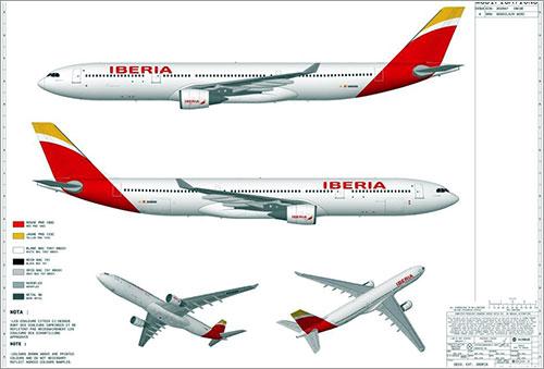 Nueva librea de Iberia